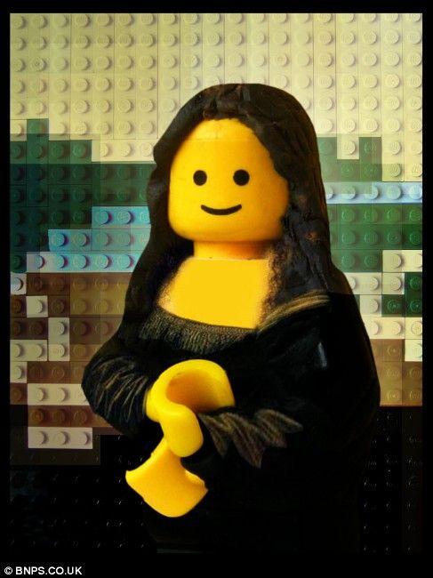 Mona Lisa clipart street art Best made !!! Lego out