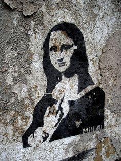 Mona Lisa clipart street art Pinterest New and Artist graffiti