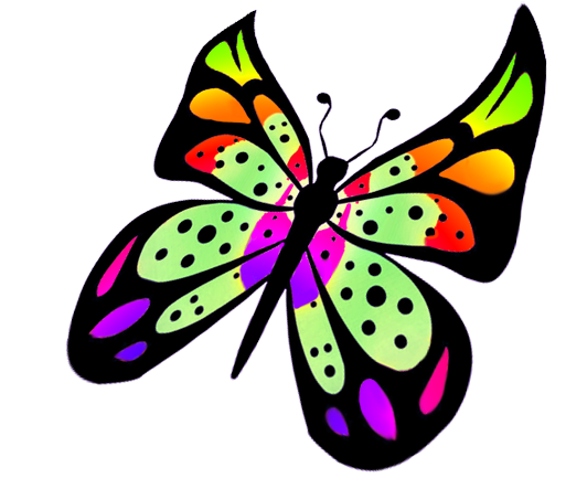 Colouful clipart butterfly wing #4