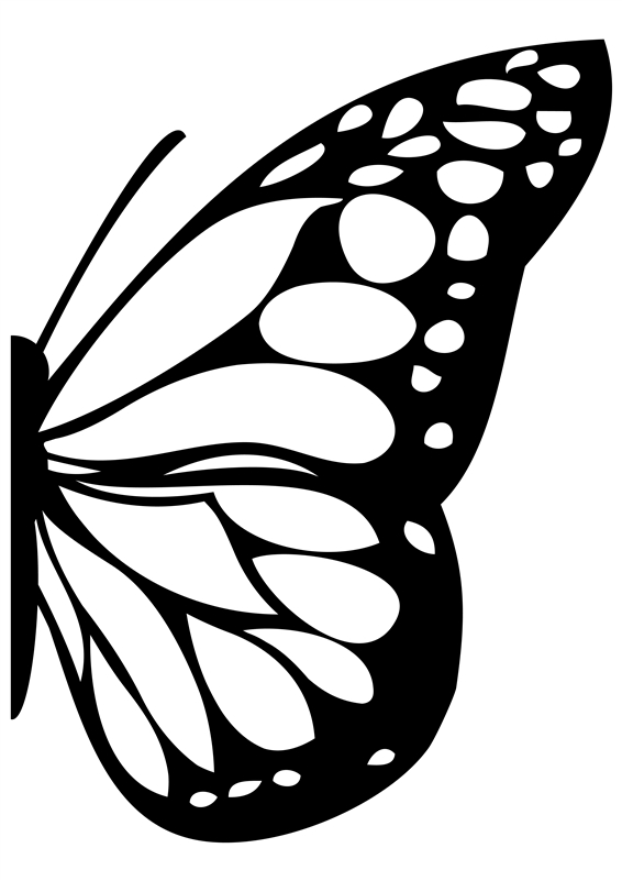Monarch Butterfly clipart closed wing #2