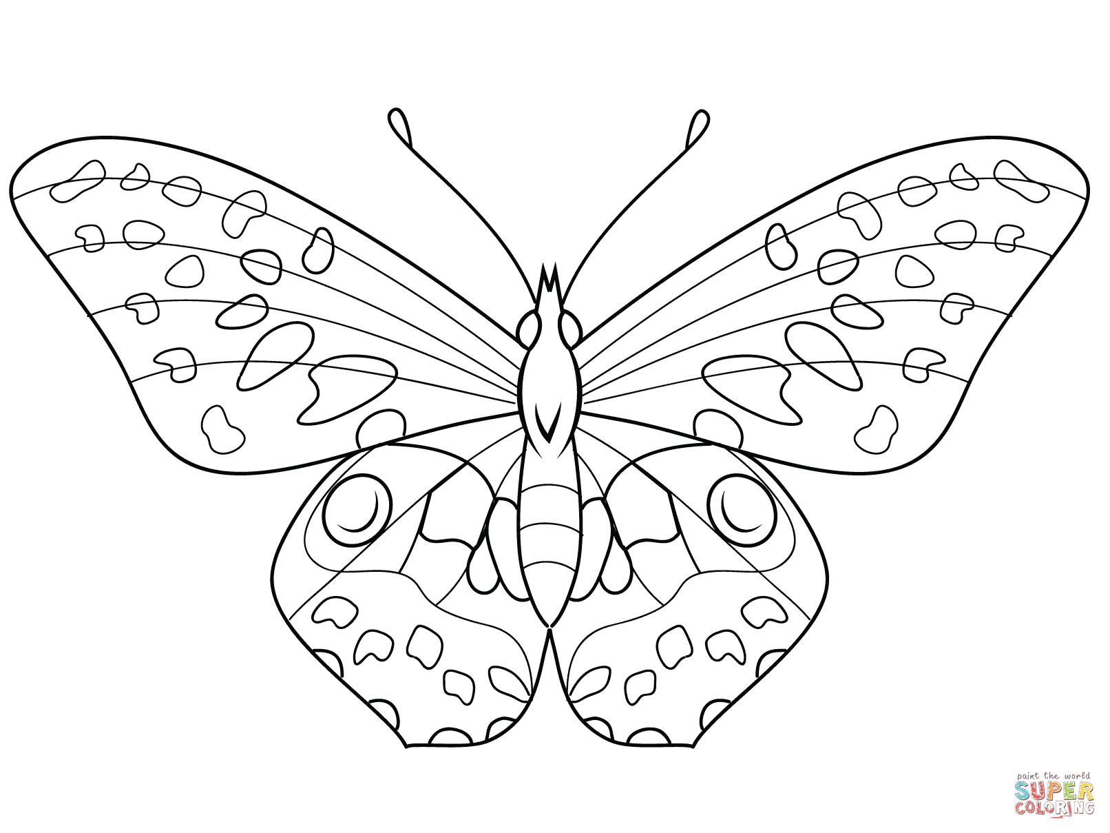 Monarch Butterfly clipart coloring book Butterfly page Butterfly the Pages