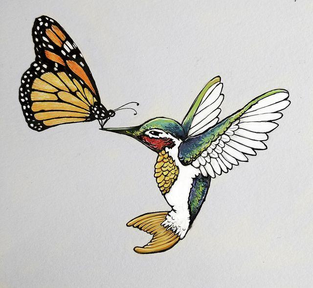 Monarch Butterfly clipart masculine Tattoo Hummingbird on 20+ Monarch
