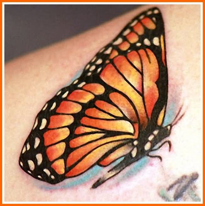 Monarch Butterfly clipart masculine Monarch Beautiful Tattoo On Shoulder