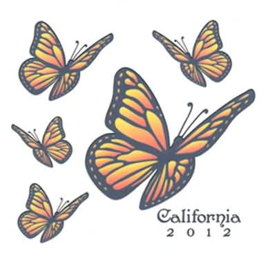 Monarch Butterfly clipart masculine Simple Amazing Butterfly Tattoo Stencil