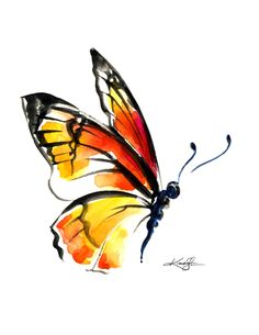 Monarch Butterfly clipart masculine From Monarch Monarch watercolor painting
