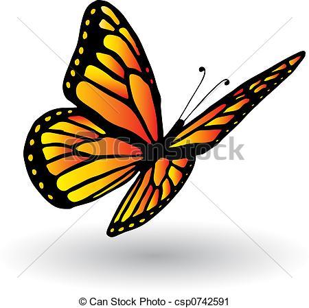 Monarch Butterfly clipart sideways #5