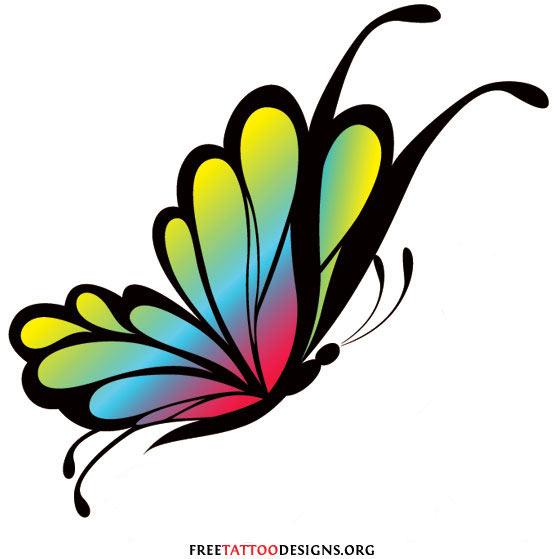Monarch Butterfly clipart sideways #4