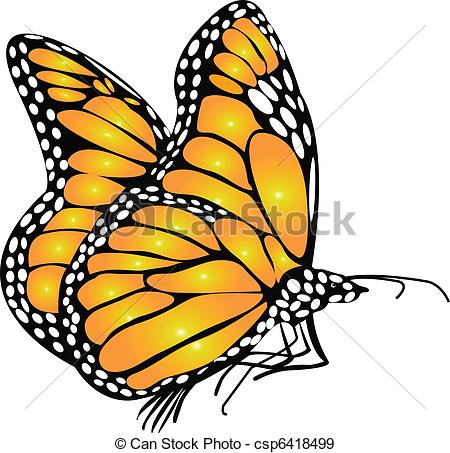Monarch Butterfly clipart stock #2
