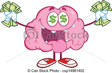Clipart csp14981402 Brain Character of