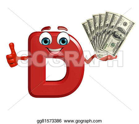 D d of rendered Clipart
