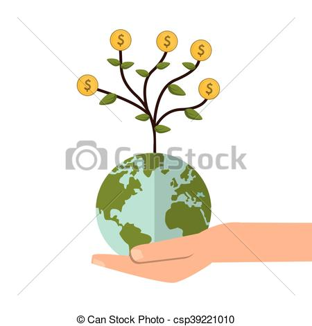 Money clipart earth Shelter Clip tree earth with