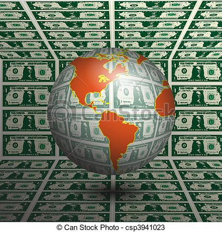 Money clipart earth Illustration the Money Drawings