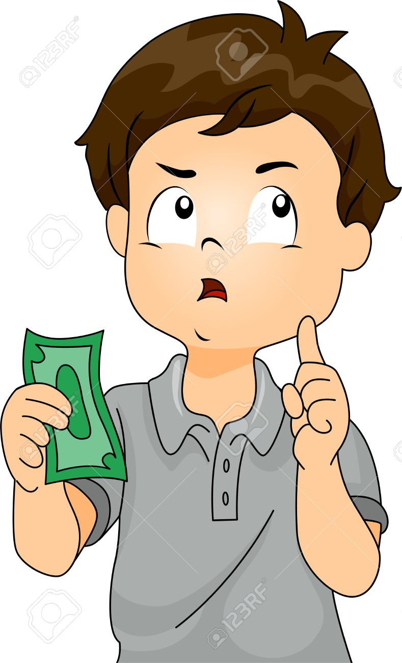 Illustration clipart Of with money