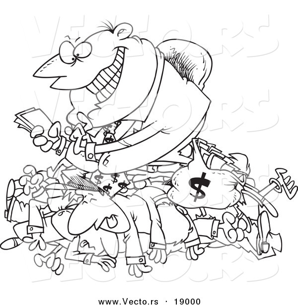 Money clipart greed Greedy a of Clipart Vector