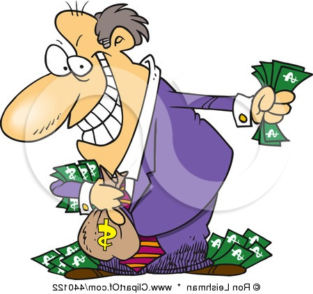 Money clipart greed Clipart Gray Clipart Gredy Footprint