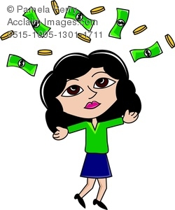 Money clipart lottery winner Winning lottery the clipart &