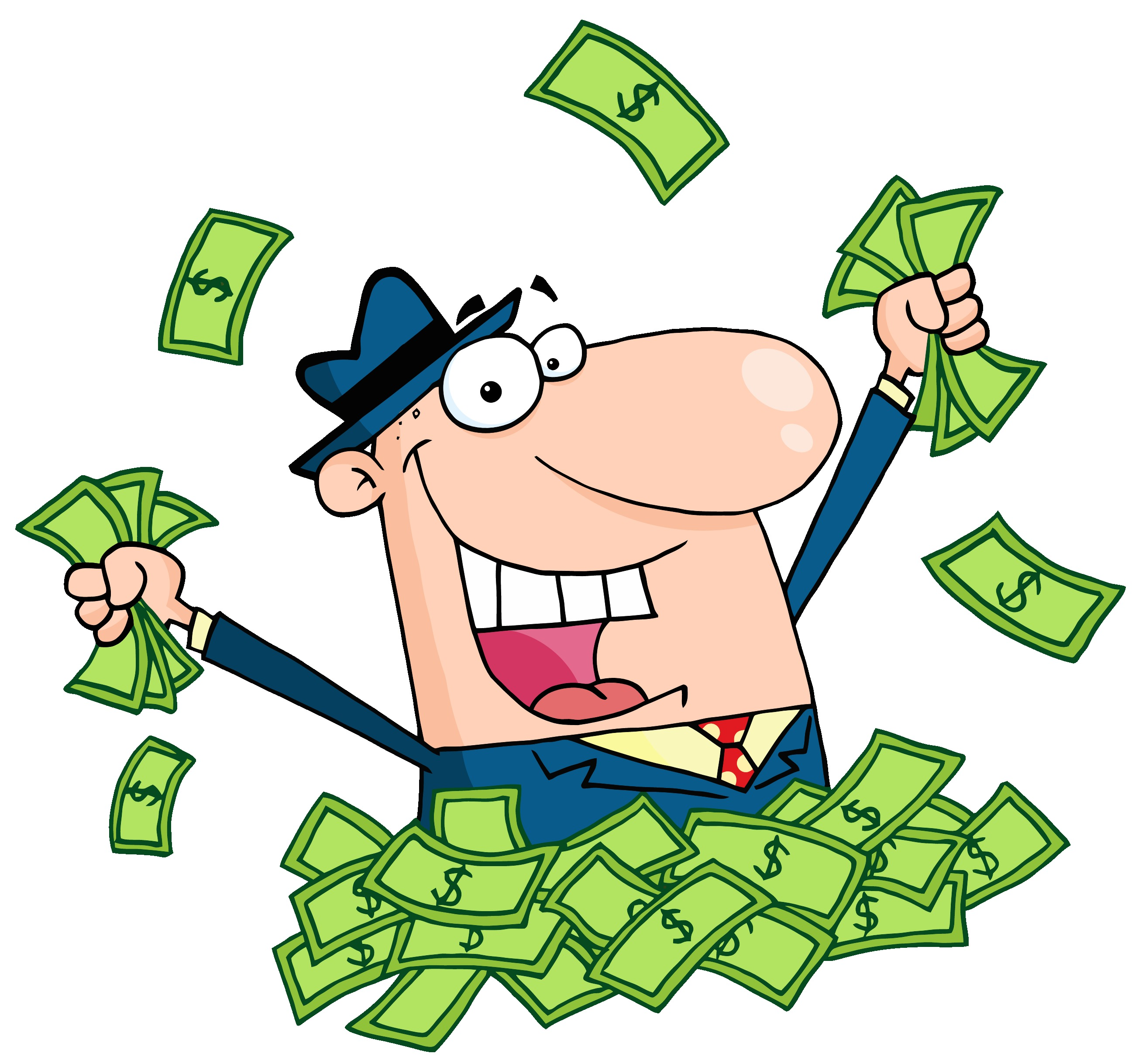 Money clipart lottery winner  money the The to