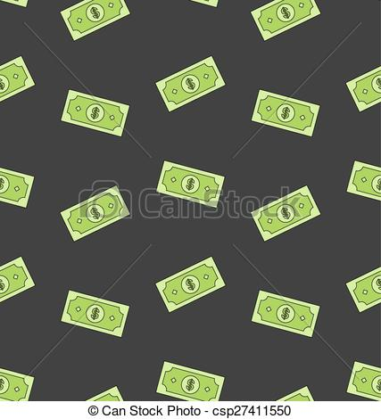 Money clipart money notes American Vector Clipart Pattern Seamless
