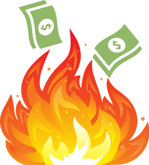 Money clipart on fire #14
