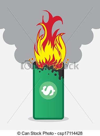 Money clipart on fire #6