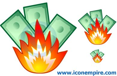 Money clipart on fire #7