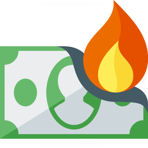 Money clipart on fire #4