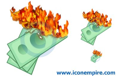 Money clipart on fire #3
