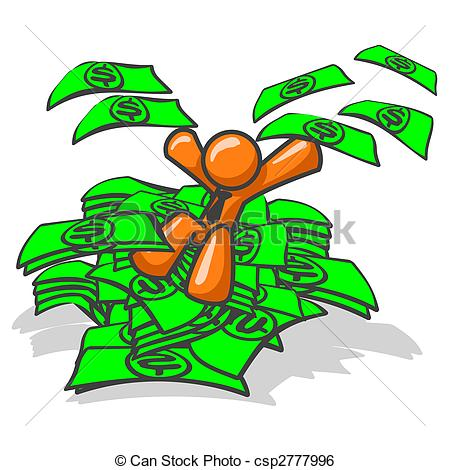 Money clipart stacked Of csp2777996 Stock Man Found