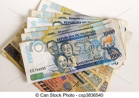 Money clipart philippine A white  background Stock