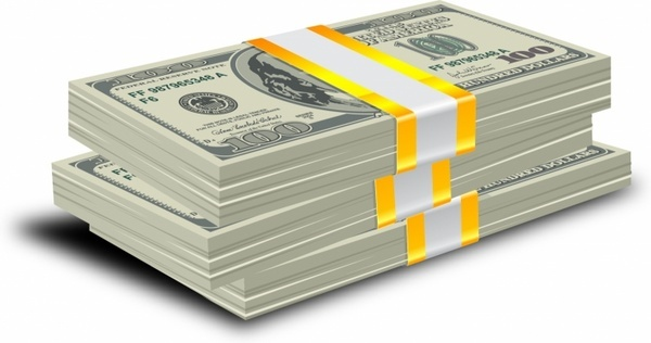 Money clipart stacked Vector vector) books of dollars