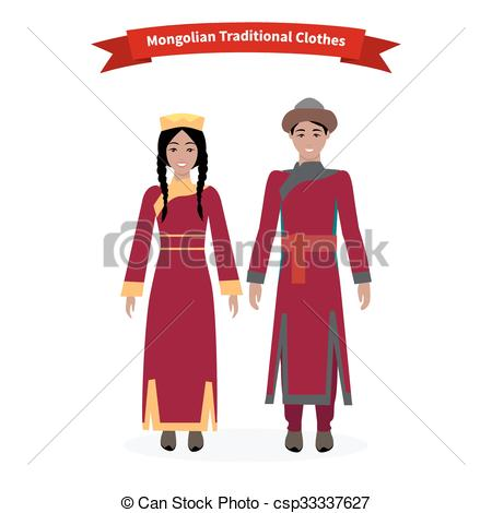 Mongolian clipart Csp33337627 Traditional Vector  People