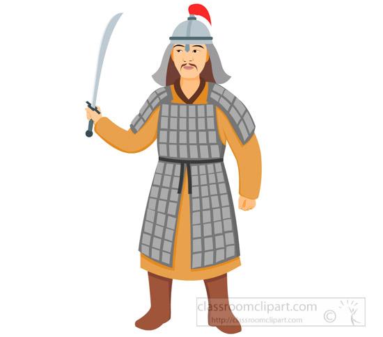 Mongolian clipart Illustrations 63 warrior Kb Graphics