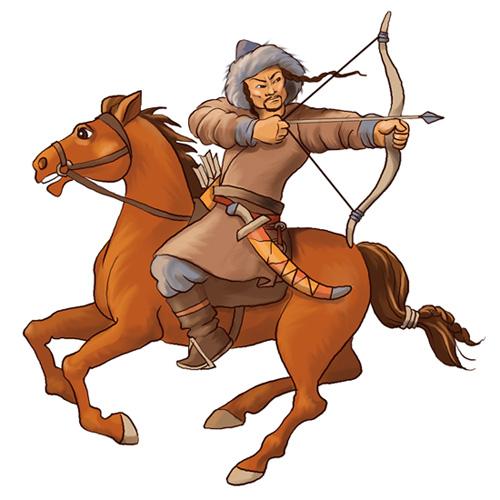 Mongolian clipart warrior #3