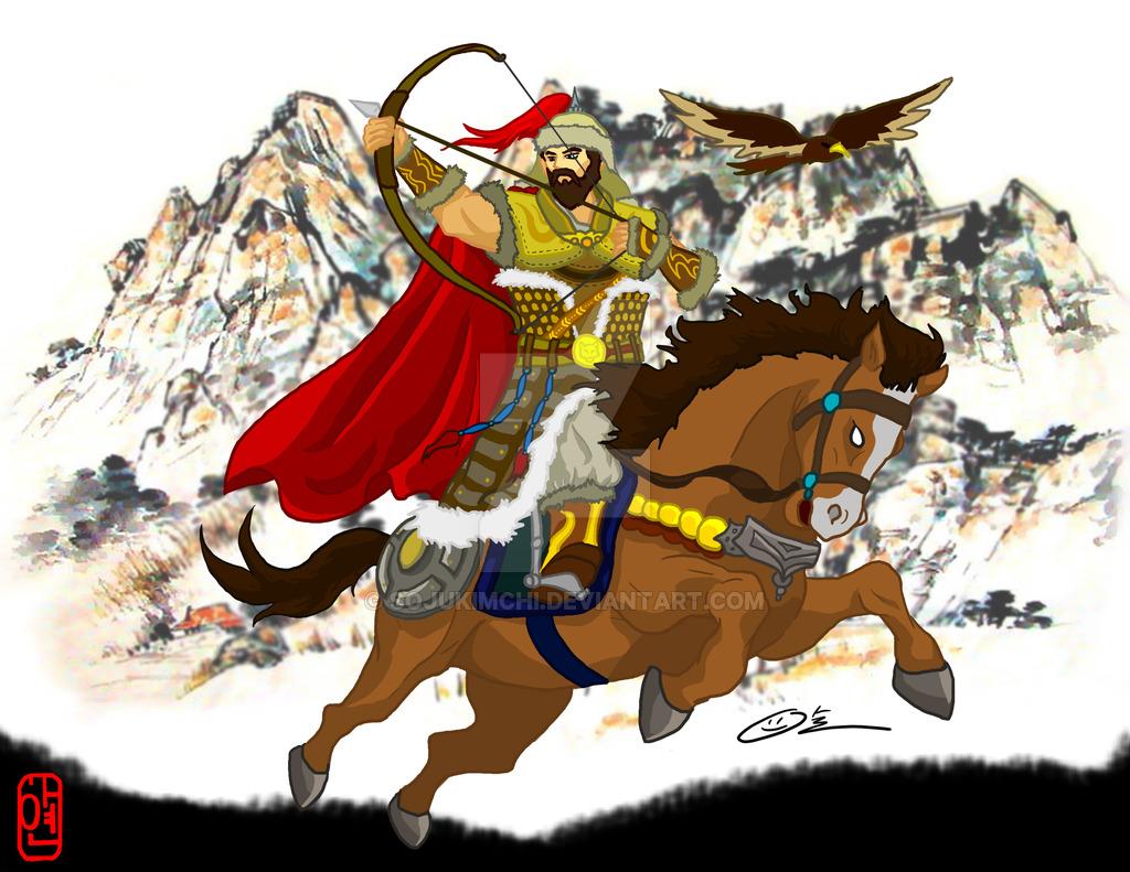 Mongolian clipart warrior #5