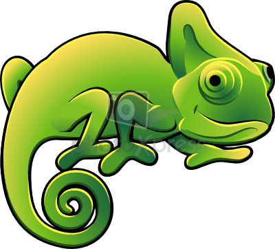 Reptile clipart green object #1