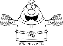 Monk clipart wise man Images monk Beer Cartoon A