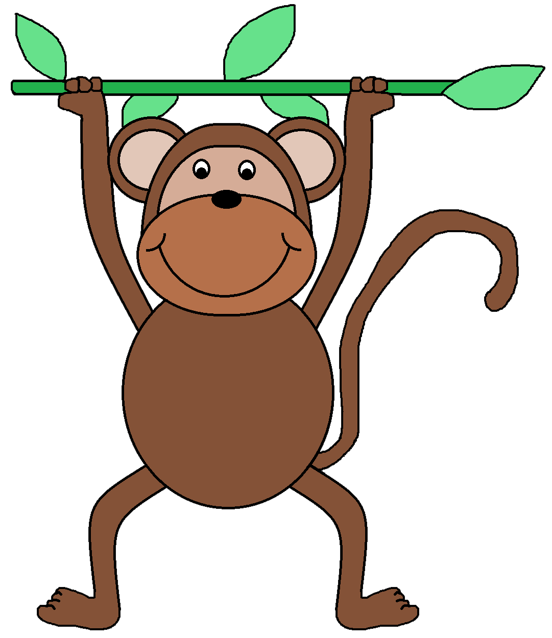 Number clipart monkey ClipartMonk face Art Clipart for