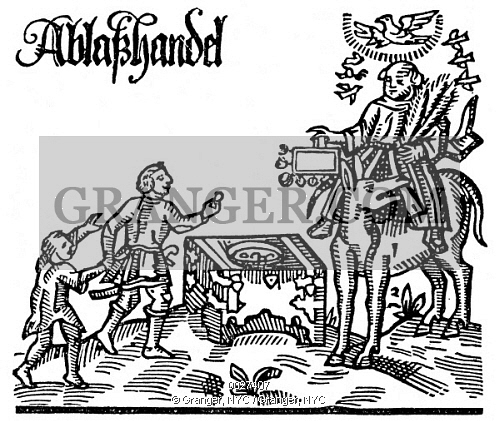 Monk clipart german Woodcut REFORMATION: 16th German indulgences