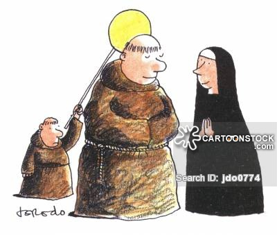 Monk clipart different religion CartoonStock Cartoons and pictures cartoon