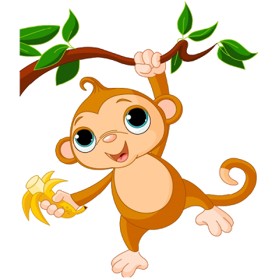 Moving clipart monkey #6