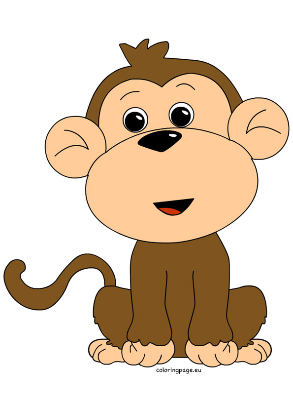 Monkey clipart Share: Coloring Page Monkey clipart