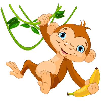 Moving clipart monkey #2