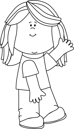 Monochrome clipart Kids Images Black White and