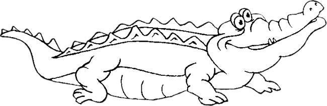 Monochrome clipart alligator #10