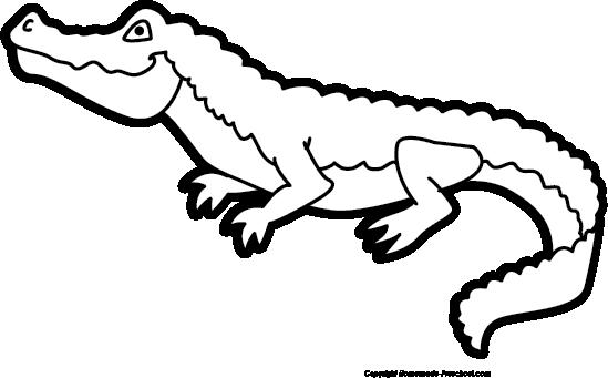 Monochrome clipart alligator #14