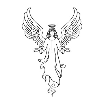 Angel clipart black and white White Free Angel And Clipart