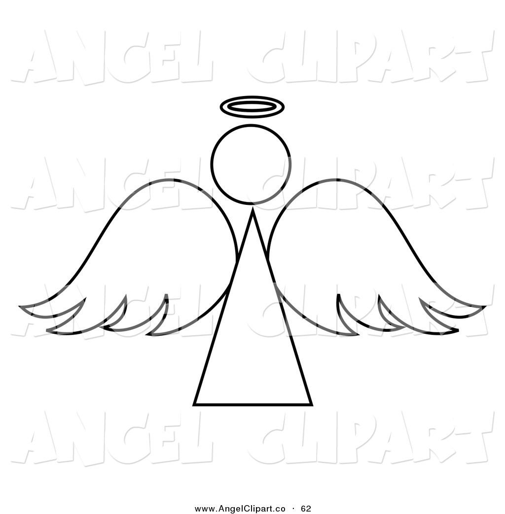 Angel clipart black and white Angel black clip  white