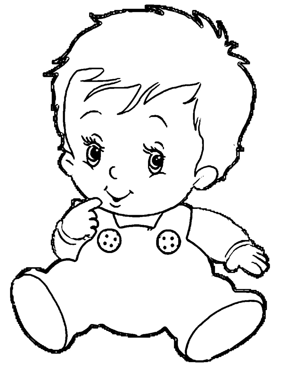 Monochrome clipart baby Clip and baby Baby black