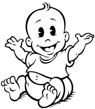 Monochrome clipart baby Baby and and Baby black