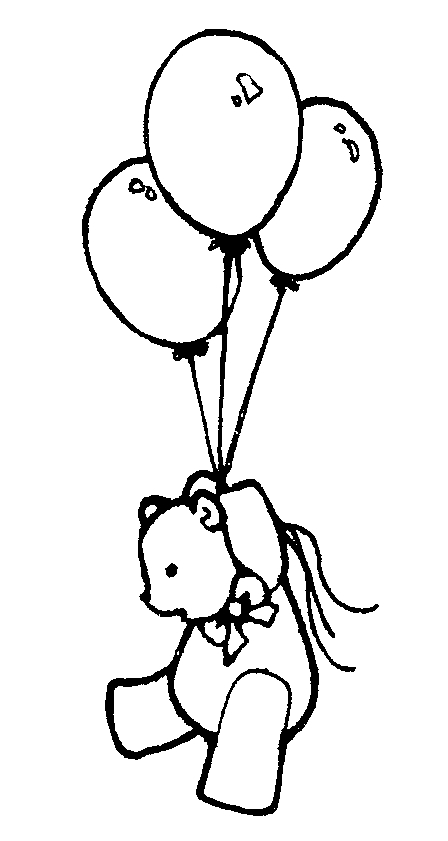 Monochrome clipart balloon  Art And Clip Birthday